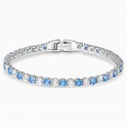 Swarovski 5536469 Armband Damen Tennis Deluxe Blau Silber-Ton