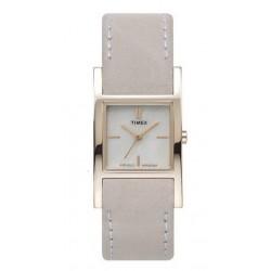 Timex T2J951 Damen-Uhr Leder Plus Wechselband Eckig Ø 23 mm