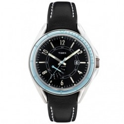 Timex T2M433 Damen-Uhr Retrograde Leder Schwarz Ø 37 mm