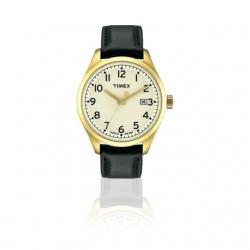Timex T2M460PG Herren-Uhr T Serie Leder Schwarz Ø 38 mm