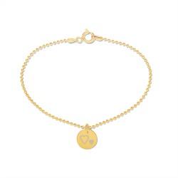 Beka & Bell Armband Damen Mutter und Tochter-Herz Silber Gold Gr. M