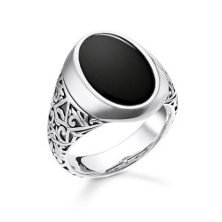 Thomas Sabo TR2242-698-11 Ring Herren Onyx Schwarz Sterling-Silber