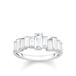 Thomas Sabo TR2269-051-14 Ring Weiße Steine Baguette-Schliff Silber