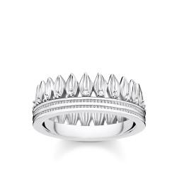 Thomas Sabo TR2282-051-14 Ring Damen Krone Blätter Silber