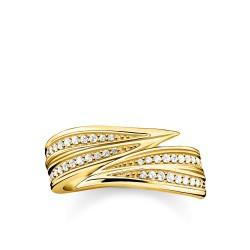 Thomas Sabo TR2283-414-14 Ring Damen Blätter Silber Vergoldet
