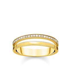 Thomas Sabo TR2316-414-14 Ring Damen Doppel Weiße Steine Vergoldet