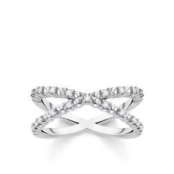 Thomas Sabo TR2318-051-14 Ring Damen Kugeln Weiße Steine Silber