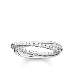 Thomas Sabo TR2321-001-21 Ring Damen Doppel Kugeln Silber