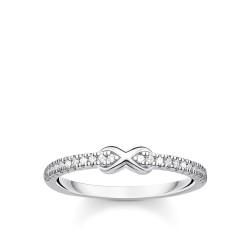 Thomas Sabo TR2322-051-14 Ring Damen Infinity Weiße Steine Silber