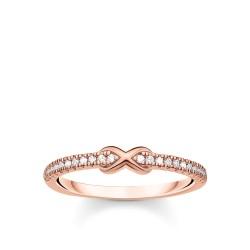 Thomas Sabo TR2322-416-14 Ring Damen Infinity Weißen Steinen Roségold Vergoldet