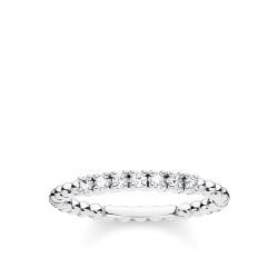 Thomas Sabo TR2323-051-14 Ring Damen Kugeln Weiße Steine Silber