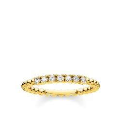 Thomas Sabo TR2323-414-14 Ring Damen Kugeln Weiße Steine Vergoldet