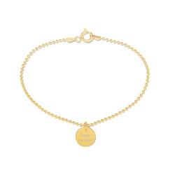 Beka & Bell Armband Soli Damen Trauzeugin Silber Gold Gr. M