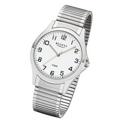 Regent 1242413 Herren-Uhr Analog Quarz mit Zug-Armband Ø 39 mm