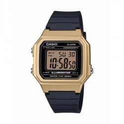 Casio W-217HM-9AVEF Unisex-Uhr Collection Quarz Edelstahl-Armband
