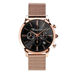 Thomas Sabo WA0246-265-203 Herrenuhr Rebel Spirit Chrono Mesh Rosé Ø 42 mm