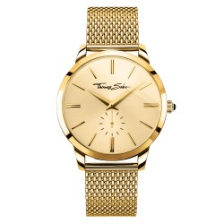 Thomas Sabo Rebel WA0263-264-207 Herrenuhr Gold-Ton Ø 42 mm