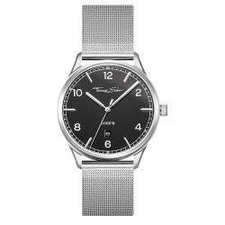 Thomas Sabo WA0339-201-203 Armbanduhr Code TS Silber Schwarz Edelstahl