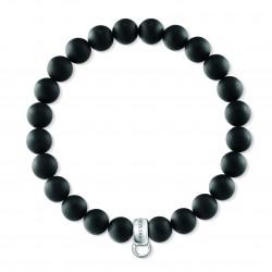 Thomas Sabo X0219-023-11 Charm-Armband Schwarz Obsidian