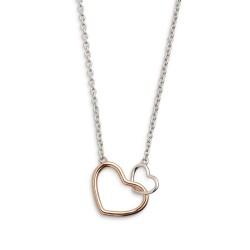 Xenox XS1758R Halskette mit Anhänger Damen Herz Silber Rosé Vergoldet