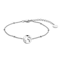 Xenox XS2986 Armband Damen Sterling-Silver Wanderlust Weltkugel