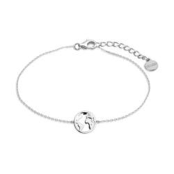 Xenox XS3165 Armband Damen Silver Wanderlust Weltkugel