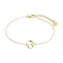 Xenox XS3165G Armband Damen Silver Gold Wanderlust Weltkugel