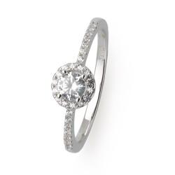 Xenox XS7366 Ring Damen Silver Circle Halo Zirkonia Sterling Silber