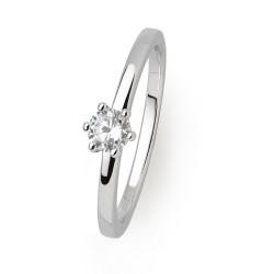 Xenox XS7383 Ring Damen Silver Circle Krappe Zirkonia Ø 3 mm Silber
