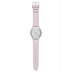 Swatch YCS599 Armbanduhr Sweet Madame Analog Quarz mit Leder Armband Ø 40,00 mm