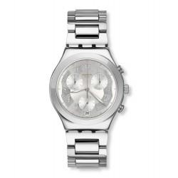 Swatch YCS604G Armbanduhr Silver Ring Analog Quarz mit Edelstahl Armband Ø 40,00 mm