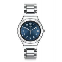Swatch YGS474G Armbanduhr Blue Pool Analog Quarz mit Edelstahl-Band
