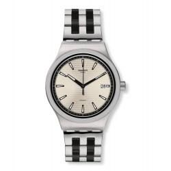 Swatch YIS424G Armbanduhr Sistem Silverline Automatik mit Edelstahl Armband Ø 42,00 mm