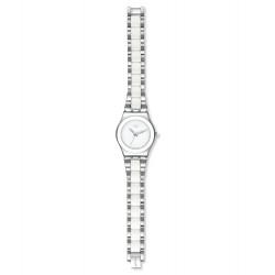 Swatch YLS141GC Armband-Uhr Tresor Blanc Analog Quarz mit Edelstahl-Band