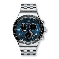 Swatch YVS423G Herren-Uhr Boxengasse Edelstahl Chronograph Ø 43 mm