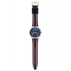 Swatch YVS449 Herren-Uhr College Time Irony Chronograph Edelstahl Ø 43mm