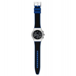 Swatch YVS451 Armbanduhr Secret Mission Analog Quarz Gummi-Band Ø 43,00 mm