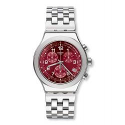 Swatch YVS456G Armbanduhr Secret Doc Analog Quarz mit Edelstahl Armband Ø 43 mm
