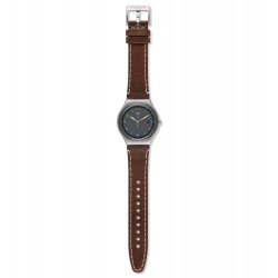 Swatch YWS445 Armband-Uhr Brandy Analog Quarz mit Leder-Band