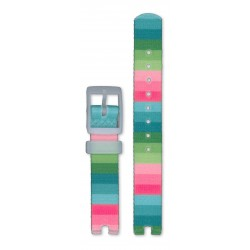 Flik-Flak ZAFPNP014 Uhren-Armband Mädchen Stripy Dreams Rosa Blau Grün