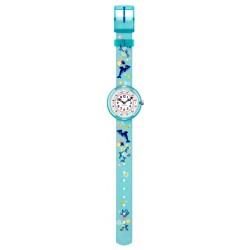 Flik Flak FBNP124 Mädchen-Uhr Sweet Dolphin Quarz Textil Armband