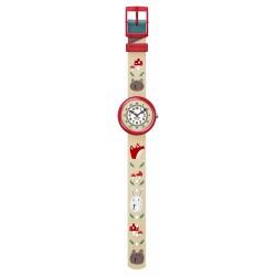 FlikFlak FBNP139 Jungen-Uhr Tilly Lou´n Buster Analog Quarz Textil-Armband