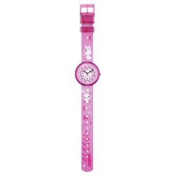 FlikFlak FBNP143 Mädchen-Uhr So Cute Analog Quarz Textil-Armband