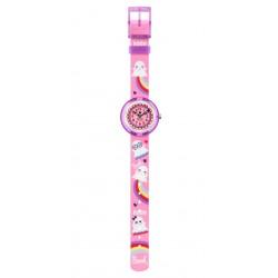 FlikFlak FBNP165 Mädchen-Uhr Spooky Analog Quarz Textil-Armband