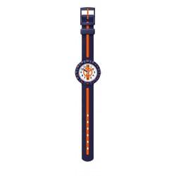Flik Flak FCSP078 Jungen-Uhr Orange Ahead Analog Quarz Kunststoff-Armband Ø 36,70 mm