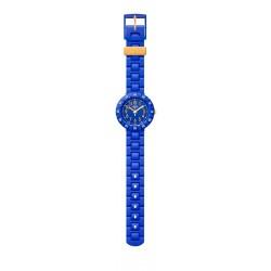 Flik Flak FCSP085 Jungen-Uhr Solo Blue Analog Quarz Kunststoff-Armband Ø 36,70 mm