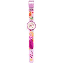 FlikFlak FLNP028 Mädchen-Uhr Disney Rapunzel Analog Quarz Textil-Armband