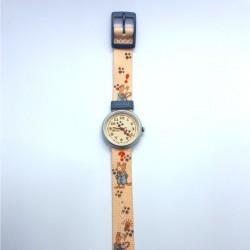 Flik Flak FPNP012 Unisex-Uhr Sherlocdog Analog Quarz Textil-Armband