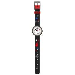 FlikFlak FPNP051 Jungen-Uhr Let´s Rock Analog Quarz Textil-Armband