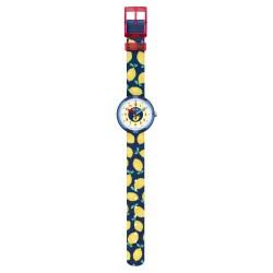 Flik Flak FPNP061 Mädchen-Uhr Limonata Analog Quarz Textil-Armband